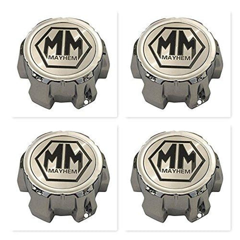 4 Pack Mayhem Wheels C10802002C C1018302C MCD8237YA02AH Chrome Center Cap - The Center Cap Store