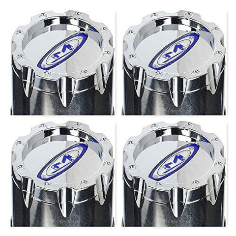 4 Pack Moto Metal 353B136CH1 Chrome Wheel Rim Center Cap Push Thru - The Center Cap Store