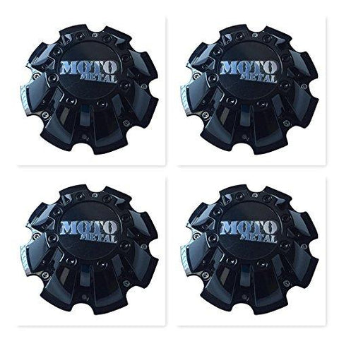 4 Pack Moto Metal CAP M-793 M793BK01 Black Wheel Center Cap - The Center Cap Store