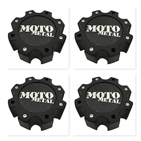4 Pack Moto Metal Wheels 845L172 LG0810-26 845L172S2 Matte Black Center Cap - The Center Cap Store