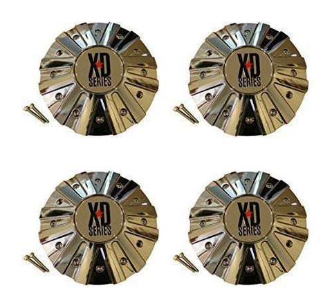 4 x KMC XD Series 778 Monster Chrome Wheel Rim Center Cap 846L215 - The Center Cap Store