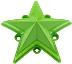 XDSTAR-GN-PK GREEN XD SERIES COLORED REPLACEMENT STAR FOR ROCKSTAR CAPS (5 PACK)