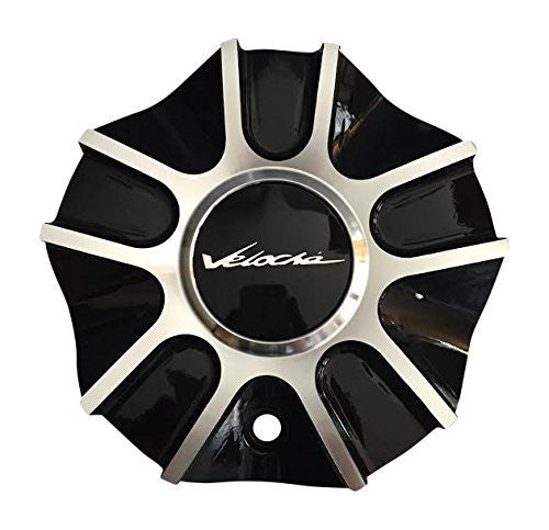 Veloche Ventata 57582085F-2 Black and Machined Center Cap - The Center Cap Store