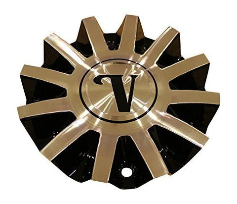 Velocity Black Machined Silver Wheel Rim Center Cap CS420-1A25M/B CS420-IA25M/B - The Center Cap Store