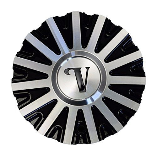 Velocity VW10 Black and Machined Center Cap CSVW10-1A Aluminum - The Center Cap Store