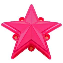 XD Series by KMC Wheels XDSTAR-PK-PK PINK XD SERIES COLORED REPLACEMENT STAR FOR ROCKSTAR CAPS (5 PACK)