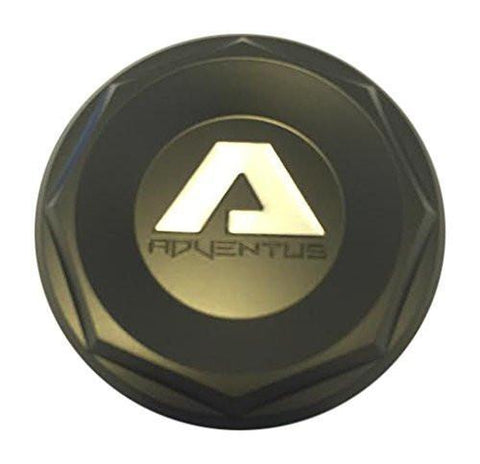 Adventus Wheels AVS2 AVS-2 Wheels ADVCAPBLK Black Center Cap - The Center Cap Store