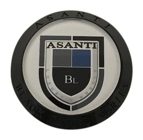Asanti Black Label Series Wheels CT-36NB Black Wheel Center Cap - The Center Cap Store