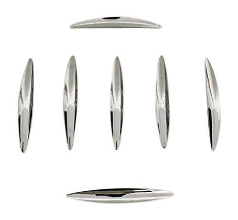 Baccarat Director A11502-ZST Chrome Wheel Inserts Set of 7 - The Center Cap Store