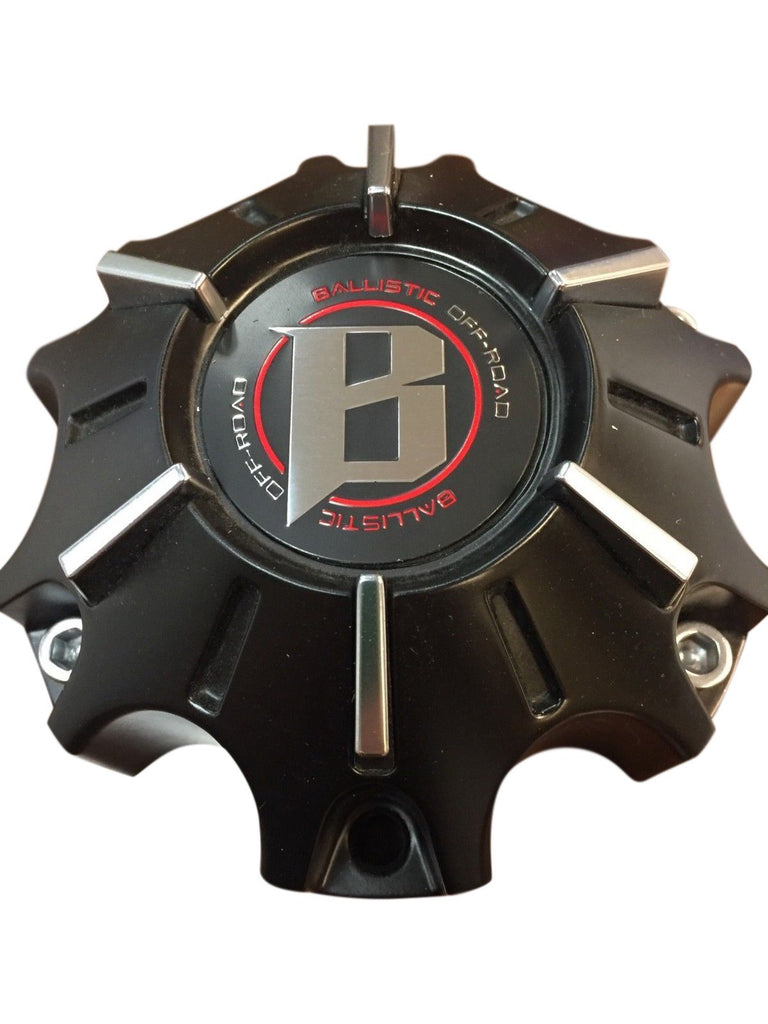 Ballistic Offroad Wheels WX-09-CAP Black Center Cap Fits 6x135 or 6x139 Bolt Pattern - The Center Cap Store