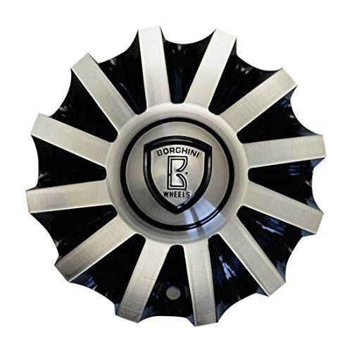 Borghini B19 Center Cap Serial Number CSB19-2A Black and Machined - The Center Cap Store
