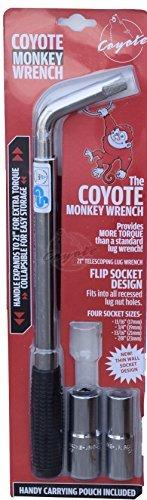 Coyote Monkey Wrench - Telescoping Lug Wrench - With Thin Wall Sockets, Model: 980002T, Outdoor&Repair Store - The Center Cap Store