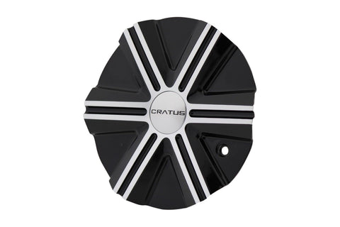 Cratus Wheels CR007GBM CR007 Gloss Black and Machined Center Cap - The Center Cap Store