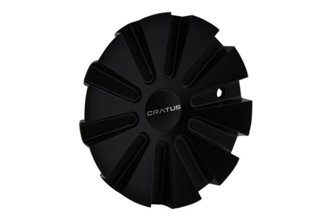 Cratus Wheels CR008 C-401-6 Flat Black Center Cap - The Center Cap Store