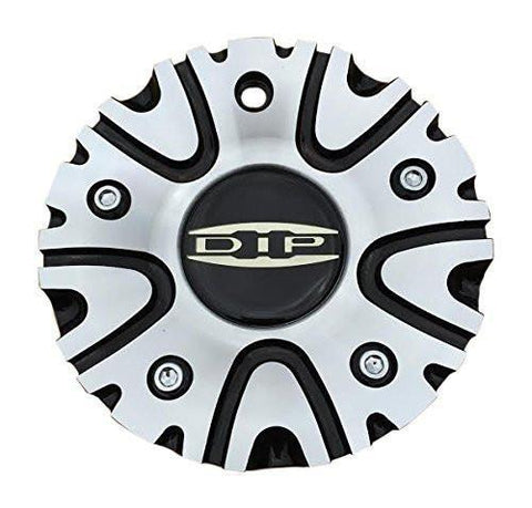 DIP D50 Black and Machined Center Cap 12112085F-2 - The Center Cap Store