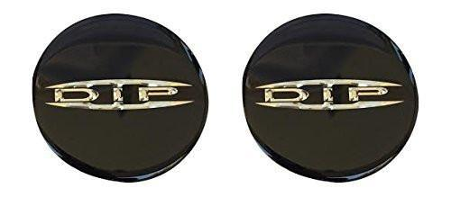 "DIP Wheels Black 2 Pack Logo Sticker Adhesive Decals 2-9/16"" or 66MM Diameter - The Center Cap Store"