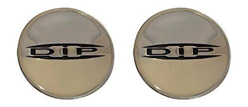 DIP Wheels Replacement Center Cap Logo Stickers 2 9/16 or 66MM 2 Pack - The Center Cap Store