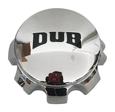 DUB Wheels 1000-90 1000-55 Chrome 8 Lug Wheel Center Cap - The Center Cap Store