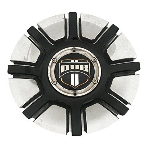 DUB Wheels M-664/665/666-1 USED Chrome and Black Center Cap - The Center Cap Store