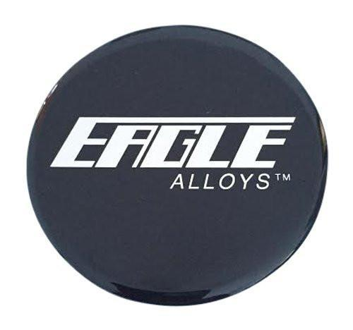 Eagle Alloys Wheels Black Sticker Decal 71MM - The Center Cap Store