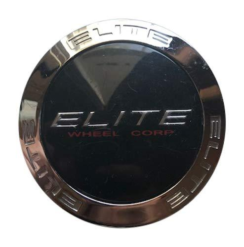 Elite Wheel Corp Cap M-581 Used Chrome and Black Center Cap - The Center Cap Store