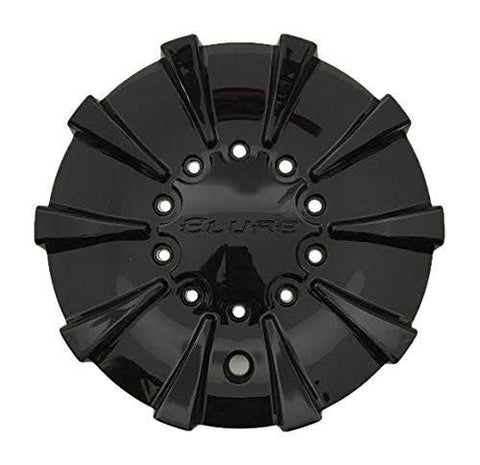 Elure Wheels CS337-D1P SJ708-21 Black Wheel Center Cap - The Center Cap Store