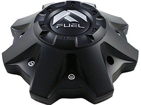 Fuel Matte Black Chrome Rivets Wheel Center Caps One (1) 1002-53B M-447 8-Lug (WITH SCREWS) - The Center Cap Store