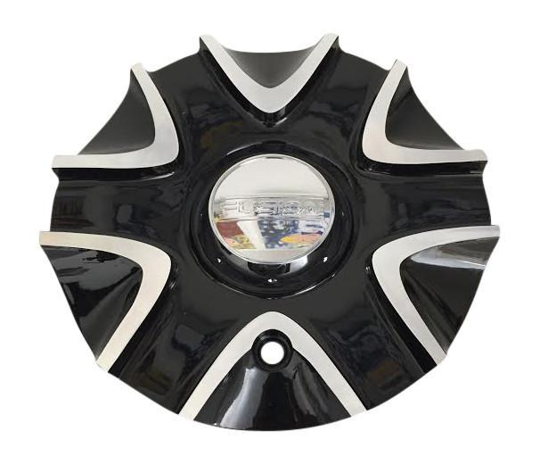 Fusion Wheels 661L196 Black Wheel Center Cap - The Center Cap Store