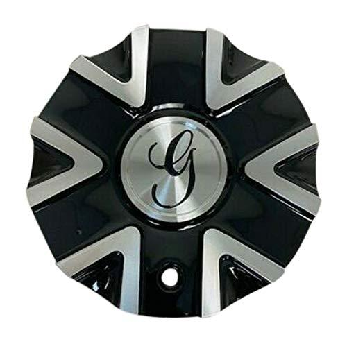 Gazario Wheels 62402295F-2 7832295B Black and Machined Wheel Center Cap - The Center Cap Store