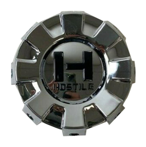 Hostile Wheels 8 Lug Chrome Wheel Center Cap HC-8001 HC-8001-B - The Center Cap Store