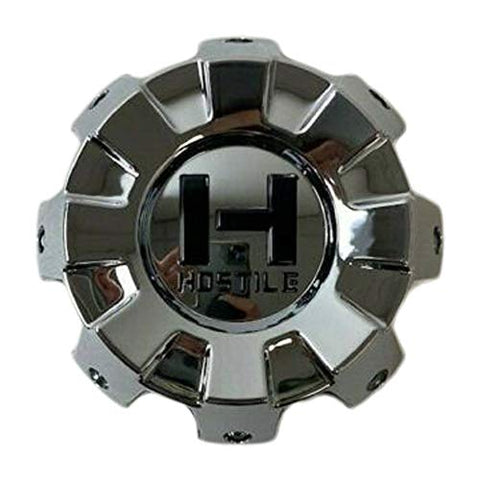 Hostile Wheels 8 Lug Chrome Wheel Center Cap HC-8801 HC-8001-B - The Center Cap Store