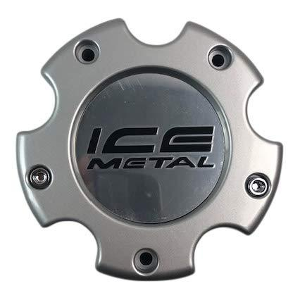 Ice Metal Wheels SC-174B 845L145-1 Silver Wheel Center Cap - The Center Cap Store