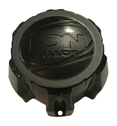 Ion Alloy 6 Lug C101711MB C202202 Matte Black Wheel Center Cap - The Center Cap Store