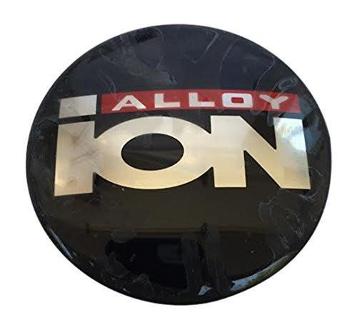 Ion Alloy Black Decal Sticker 66MM Diamater Slightly Domed - The Center Cap Store