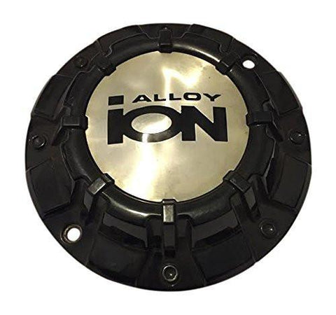 Ion Alloy Detroit Wheels C10186B02 Black Wheel Center Cap - The Center Cap Store