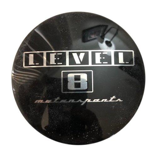 Level 8 Wheels 80585 XB3490005 Black Replacement Sticker 3.25 Inch Diameter - The Center Cap Store
