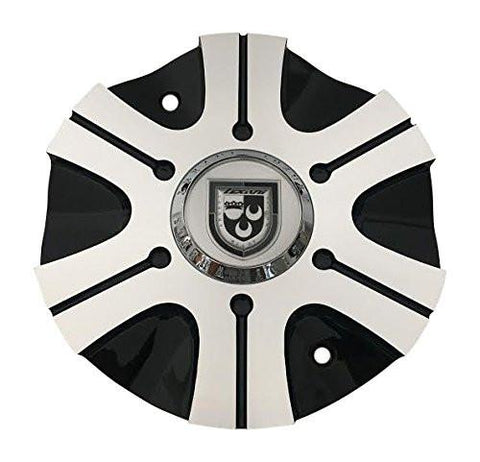 Lexani Wheels 006-2810-AL Black and Machined Wheel Center Cap - The Center Cap Store