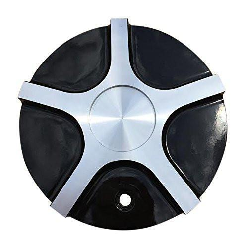 Limited Wheels C985-2 Black and Machined Center Cap - The Center Cap Store