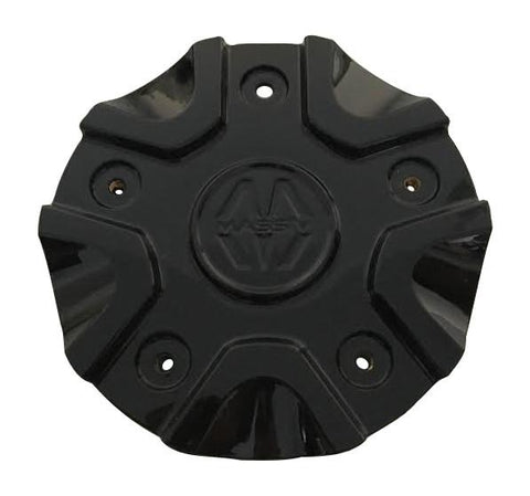 Massiv Wheels CS458-2P40C Black Wheel Center Cap - The Center Cap Store