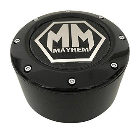 Mayhem Wheels 8 Lug C10805005B-L 81232090F-6 81232090F-5 C1080505B Gloss Black Center Cap - The Center Cap Store