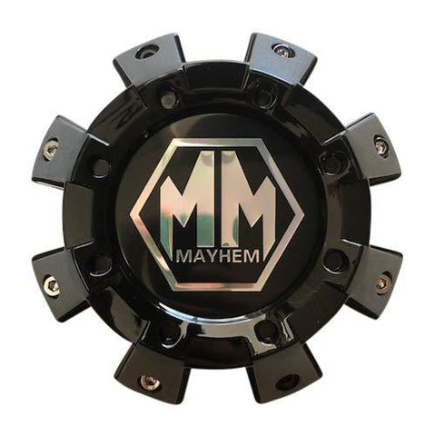 Mayhem Wheels 8101 Monstir Dually C108101B01-F 8131208525F-2 Gloss Black Front Center Cap - The Center Cap Store