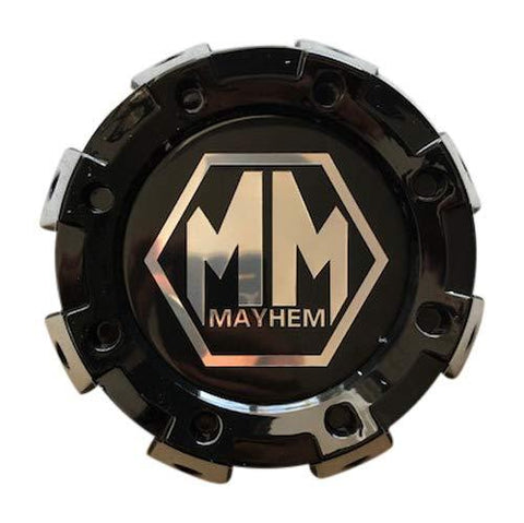 Mayhem Wheels 8101 Monstir Dually C108101B01-R 813220825F-2 Gloss Black Rear Center Cap - The Center Cap Store