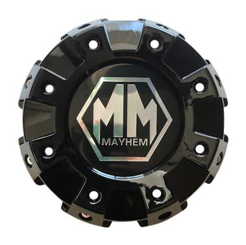 Mayhem Wheels 8101 Monstir Dually C108101B02-F 813120825F-1 Gloss Black Front Center Cap - The Center Cap Store