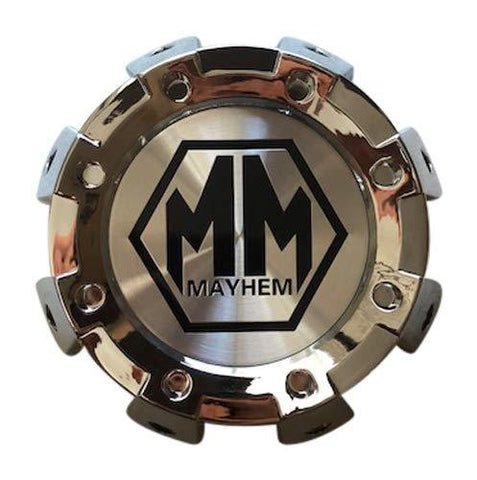 Mayhem Wheels 8101 Monstir Dually C108101C01-R 813220825F-4 Chrome Rear Center Cap - The Center Cap Store