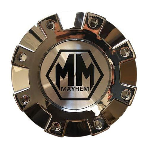 Mayhem Wheels 8101 Monstir Dually C108101C02-R 813220825F-3 Rear Chrome Center Cap - The Center Cap Store