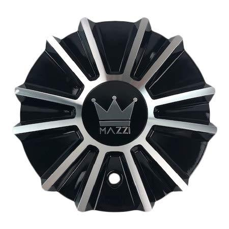 Mazzi Wheels C10342B03-CAP Black and Machined Center Cap - The Center Cap Store