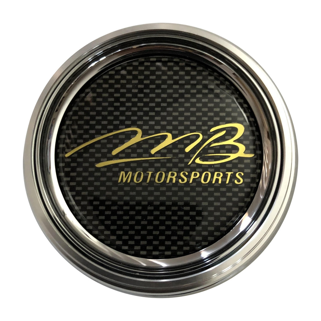 Mb Motorsports C-084-1 85686 Chrome Center Cap with Gold Lettering - The Center Cap Store