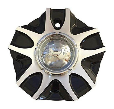 MPW 109 C10MP109B MC1109Y201 Black and Machined Wheel Center Cap - The Center Cap Store