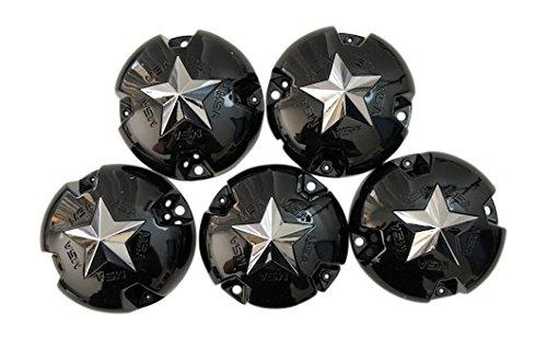 MSA Wheel BC-770 S1204-01 Gloss Black Wheel Center Cap Set of 5 - The Center Cap Store