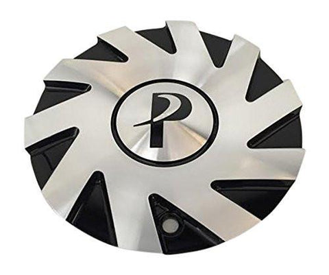 Phino Wheels PW138 CSPW138-1A SJ101-23 Black and Machined Center Cap - The Center Cap Store